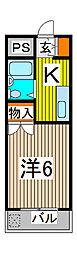 カーサ武蔵[3階]の間取り