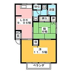 セジュールマエダ[2階]の間取り