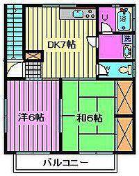 Kハイツ[2階]の間取り