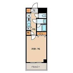 ドムスアライ3[4階]の間取り