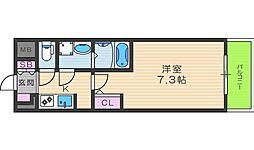 S-RESIDENCE西天満Grand Jour 9階1Kの間取り