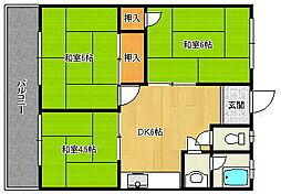 宮崎アパート[1階]の間取り