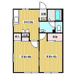 フレグランス ホープフル[2階]の間取り