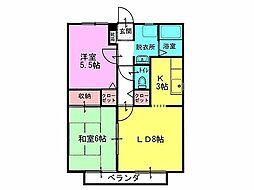 サンガーデン加儀田1[2階]の間取り