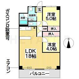 愛知県名古屋市瑞穂区堀田通2丁目の賃貸マンションの間取り