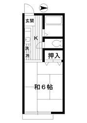 東京都練馬区土支田1丁目の賃貸アパートの間取り