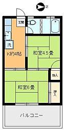 大塚荘[203号室]の間取り