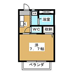 エクセル栄泉[1階]の間取り
