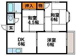 シーサイドファミーユ[1階]の間取り