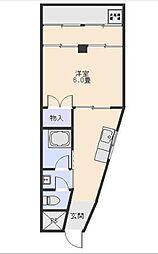 緑ヶ丘サンコーポ[2-D号室]の間取り