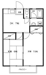 コジマハイツ[2階]の間取り