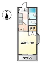 東京都小金井市梶野町1丁目の賃貸アパートの間取り