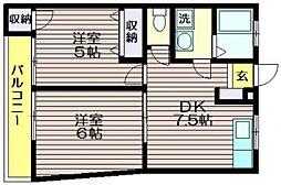 第二ドリームハイツ[2階]の間取り