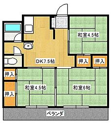 浜町マンション[6階]の間取り