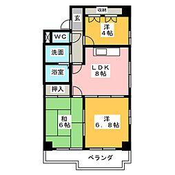 センターヒル橘[2階]の間取り