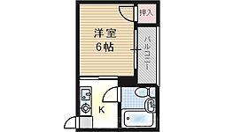 千鳥橋第一ビル[5階]の間取り