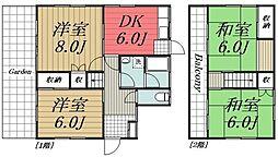 [一戸建] 千葉県千葉市若葉区多部田町 の賃貸【/】の間取り