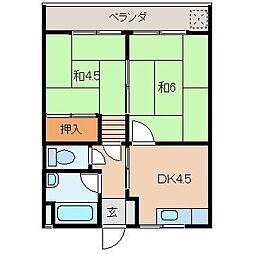宮井マンション[2階]の間取り
