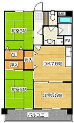 新栄二日市ハイツ[407号室]の間取り