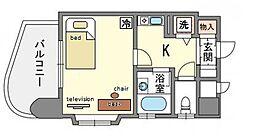 家具・家電付き ダイナコート博多[7階]の間取り