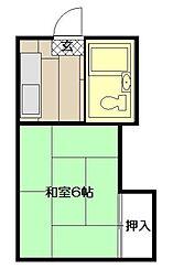 コーポ古船場[1階号室]の間取り