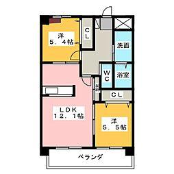 ボン レポン 新家[2階]の間取り