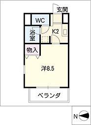アイムリオ[2階]の間取り