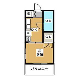 あおいコーポ[6階]の間取り