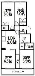 エスポアール南円山C−3号棟[2階]の間取り