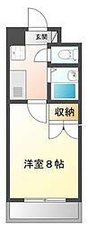 UniverCity築地A館[102号室]の間取り