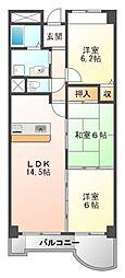アラメダ江坂[7階]の間取り