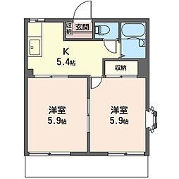 カ−サ535[1階]の間取り