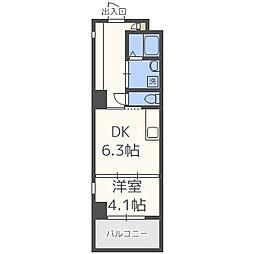 BLANC TOUR TAKAMIYA(ブラントゥーレ高宮)[7階]の間取り