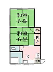 第二戸張荘[2階]の間取り
