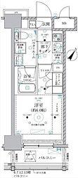 JR東海道本線 川崎駅 徒歩8分の賃貸マンション 5階1Kの間取り