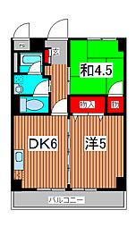 南浦和都屋ビル[4階]の間取り