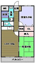 ハイマート宮山台[3階]の間取り