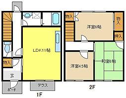 [テラスハウス] 愛知県名古屋市名東区よもぎ台2丁目 の賃貸【/】の間取り