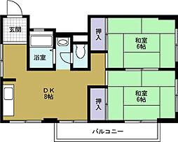 手島マンション[4階]の間取り