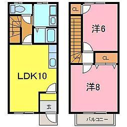 [テラスハウス] 愛知県知立市山屋敷町富士塚 の賃貸【/】の間取り