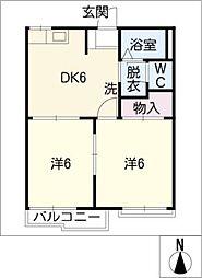 アルファープラスB棟[2階]の間取り