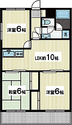 三竹コーポ[2階]の間取り