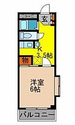 エレガンス箕面[3階]の間取り