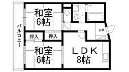 富士梶町マンション[0405号室]の間取り