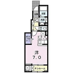 ピアチューレ 六本松 1階1Kの間取り