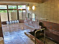 温泉大浴場は常に清掃されており、清潔感漂います。また、雰囲気も良いです。
