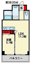 MDI フォレストガーデン 三ヶ森[405号室]の間取り