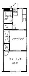 神奈川県横浜市鶴見区梶山2丁目の賃貸アパートの間取り