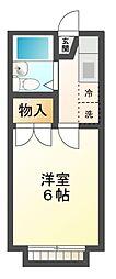 ハイツ大金台[2階]の間取り