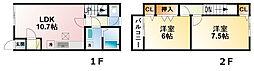 [テラスハウス] 千葉県東金市台方 の賃貸【/】の間取り